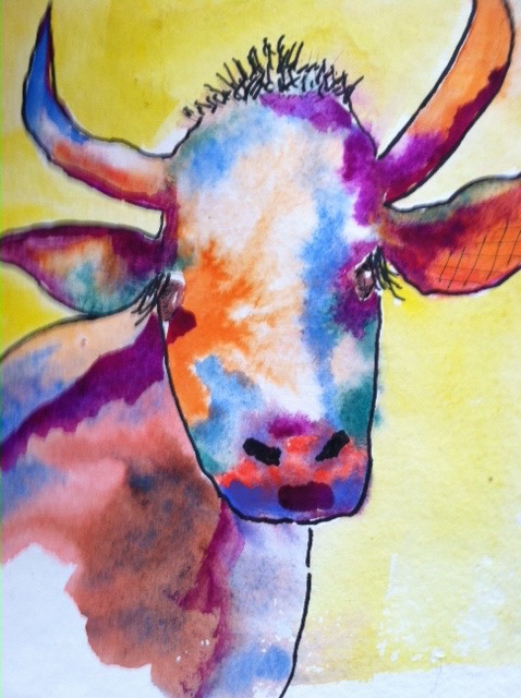 Cow, multi color